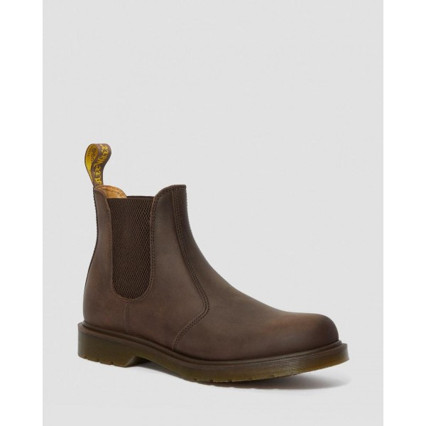 Black Friday Sale Dr. Martens 2976 CRAZY HORSE LEATHER CHELSEA BOOTS - GAUCHO CRAZY HORSE