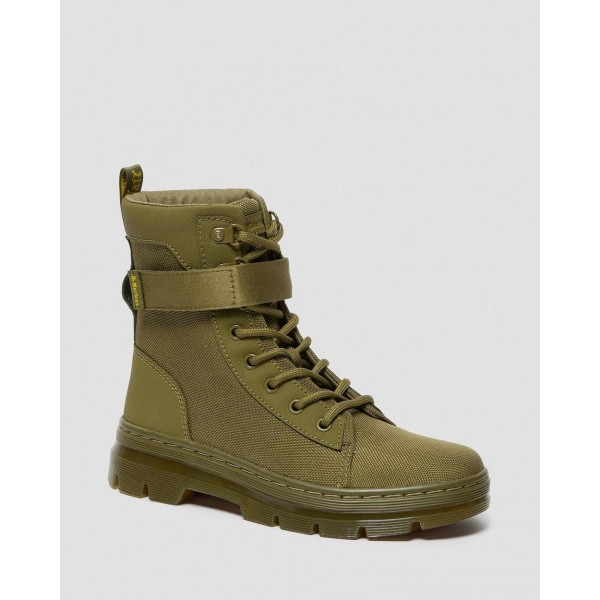 Dr.Martens COMBS TECH WOMEN'S EXTRA TOUGH CASUAL BOOTS - DMS OLIVE EXTRA TOUGH POLY+AJAX - Sale