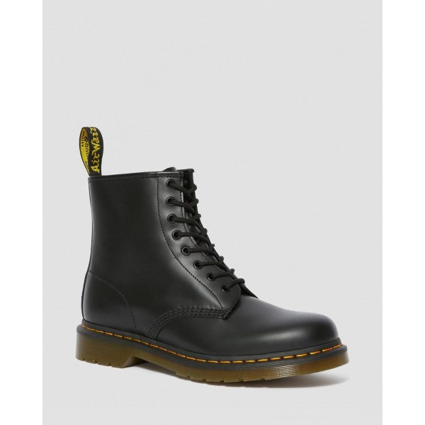 Black Friday Sale Dr. Martens 1460 SMOOTH LEATHER LACE UP BOOTS - BLACK SMOOTH