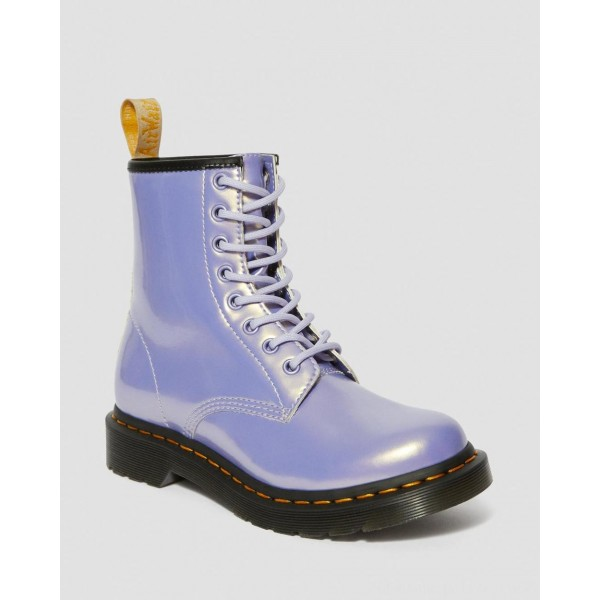 Black Friday Sale Dr. Martens VEGAN 1460 WOMEN'S OPALINE LACE UP BOOTS - PURPLE HEATHER OPALINE