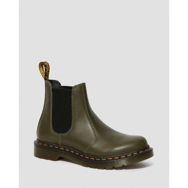 Black Friday Sale Dr. Martens 2976 WOMEN'S WANAMA LEATHER CHELSEA BOOTS - DMS OLIVE WANAMA