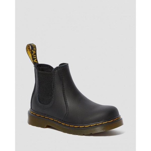 INFANT/TODDLER 2976 SOFTY T LEATHER CHELSEA BOOTS - BLACK SOFTY T
