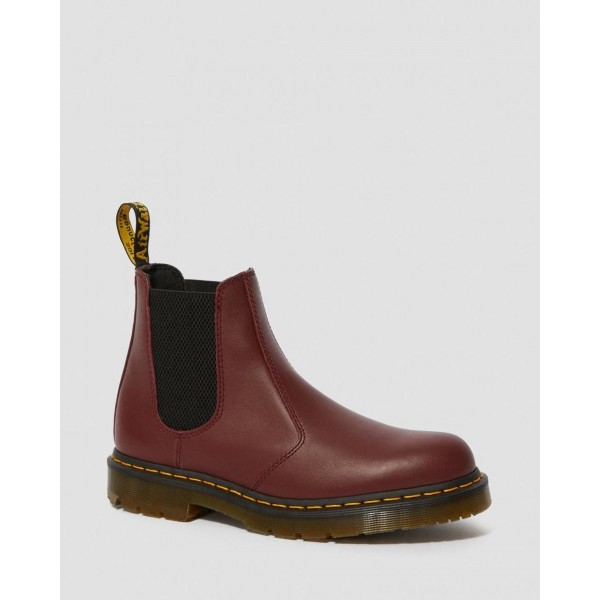 Black Friday Sale Dr. Martens 2976 SLIP RESISTANT LEATHER CHELSEA BOOTS - CHERRY RED INDUSTRIAL FULL GRAIN
