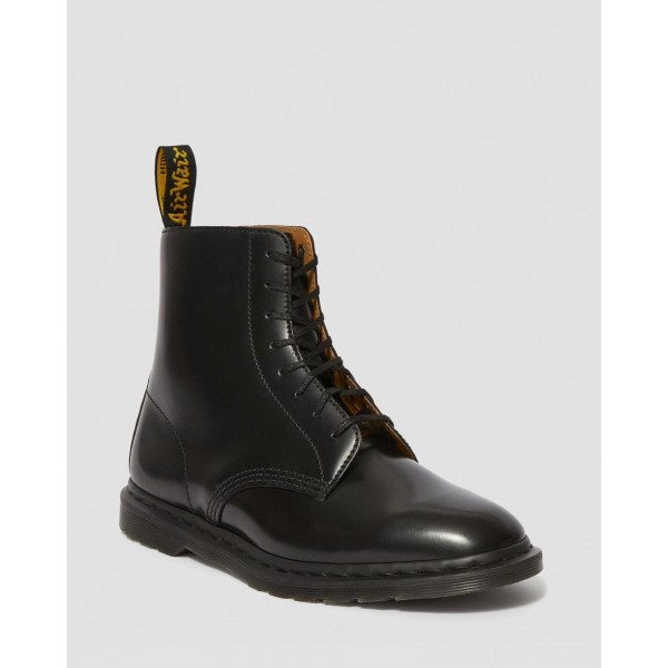 Dr.Martens WINCHESTER II MEN'S LEATHER DRESS BOOTS - BLACK POLISHED SMOOTH - Sale