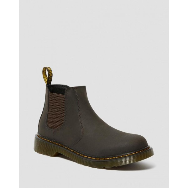 Dr.Martens YOUTH 2976 WILDHORSE LEATHER CHELSEA BOOTS - GAUCHO WILDHORSE LAMPER - Sale