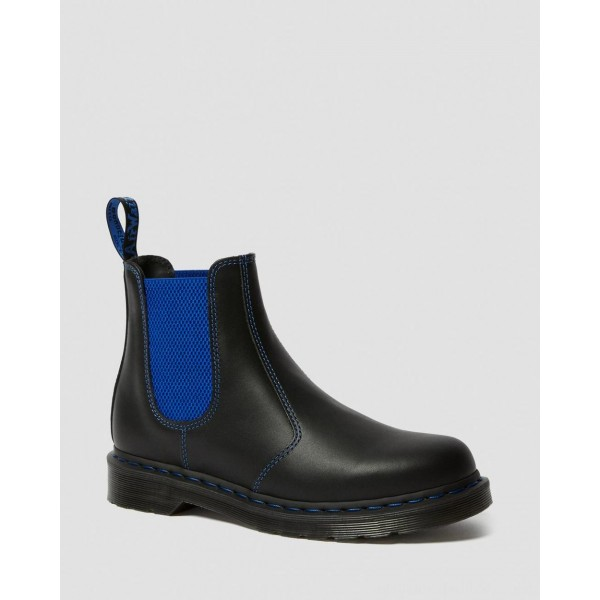 Dr.Martens 2976 POP NAPPA LEATHER CHELSEA BOOTS - BLACK NAPPA - Sale