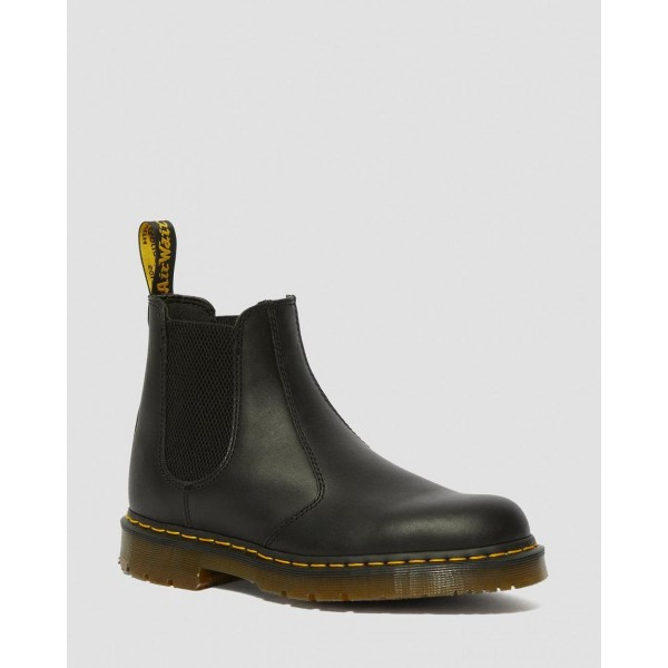 Black Friday Sale Dr. Martens 2976 SLIP RESISTANT LEATHER CHELSEA BOOTS - BLACK INDUSTRIAL FULL GRAIN
