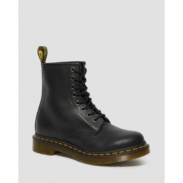 Black Friday Sale Dr. Martens 1460 WOMEN'S NAPPA LEATHER LACE UP BOOTS - BLACK NAPPA
