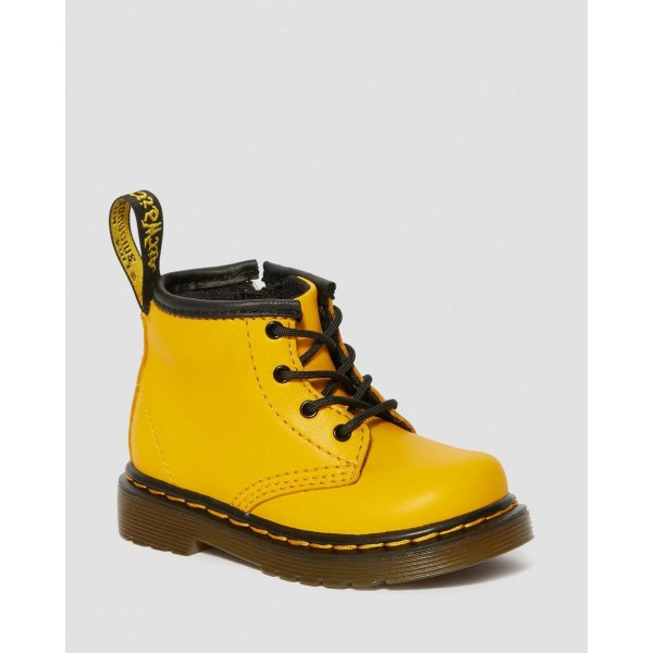 Dr.Martens INFANT 1460 LEATHER LACE UP BOOTS - YELLOW ROMARIO - Sale