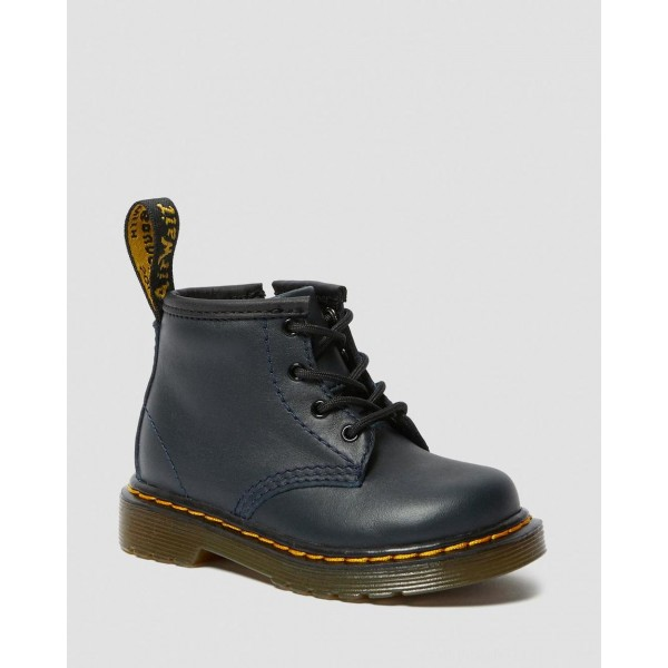 Dr.Martens INFANT 1460 LEATHER LACE UP BOOTS - NAVY ROMARIO - Sale