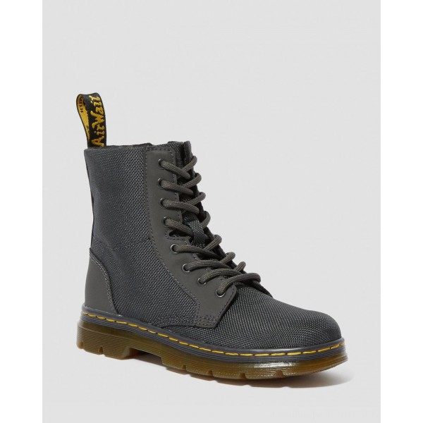Black Friday Sale Dr. Martens JUNIOR COMBS EXTRA TOUGH POLY CASUAL BOOTS - CHARCOAL EXTRA TOUGH POLY+RUBBERY