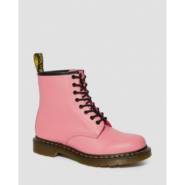 Black Friday Sale Dr. Martens 1460 SMOOTH LEATHER LACE UP BOOTS - ACID PINK SMOOTH