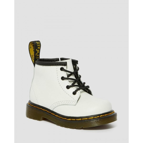 Dr.Martens INFANT 1460 LEATHER LACE UP BOOTS - WHITE ROMARIO - Sale