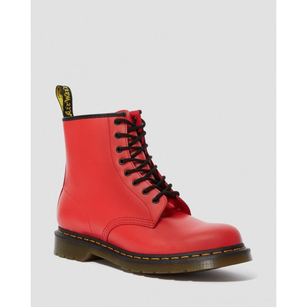 Black Friday Sale Dr. Martens 1460 SMOOTH LEATHER LACE UP BOOTS - RED  SMOOTH