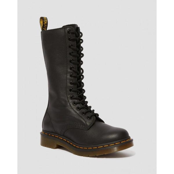 Dr.Martens 1B99 VIRGINIA LEATHER KNEE HIGH BOOTS - BLACK VIRGINIA - Sale