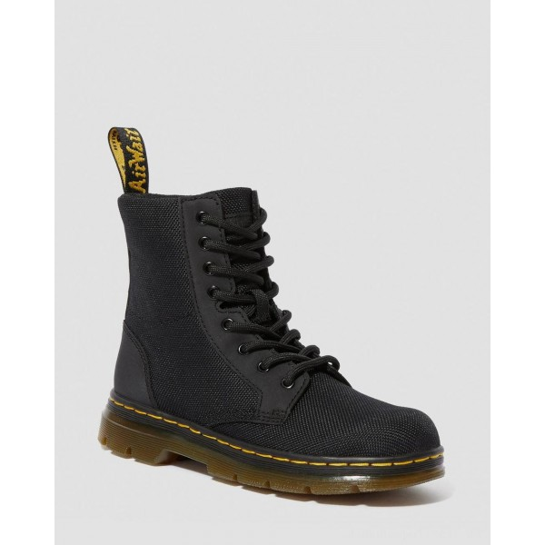Dr.Martens JUNIOR COMBS EXTRA TOUGH POLY CASUAL BOOTS - BLACK EXTRA TOUGH POLY+RUBBERY - Sale