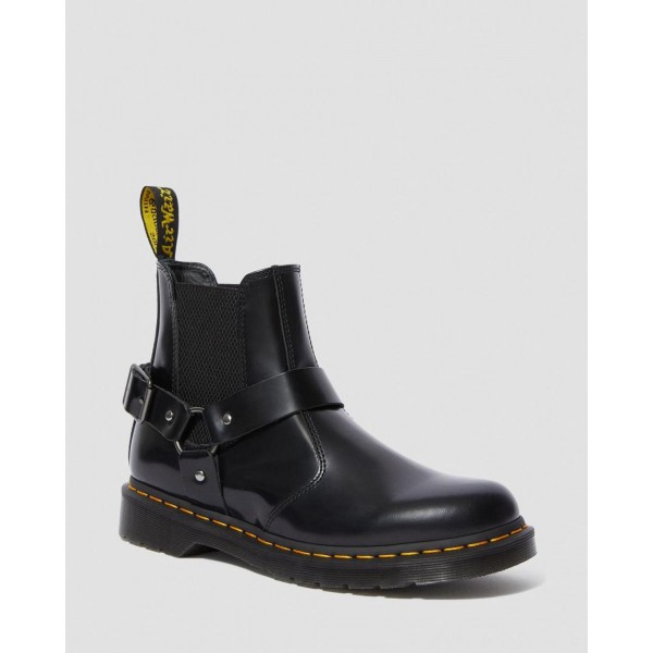 Black Friday Sale Dr. Martens WINCOX SMOOTH LEATHER BUCKLE BOOTS - BLACK POLISHED SMOOTH