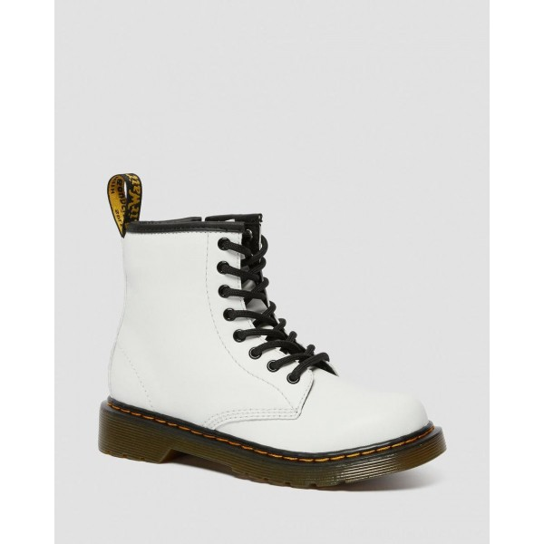 Black Friday Sale Dr. Martens JUNIOR 1460 LEATHER LACE UP BOOTS - WHITE ROMARIO