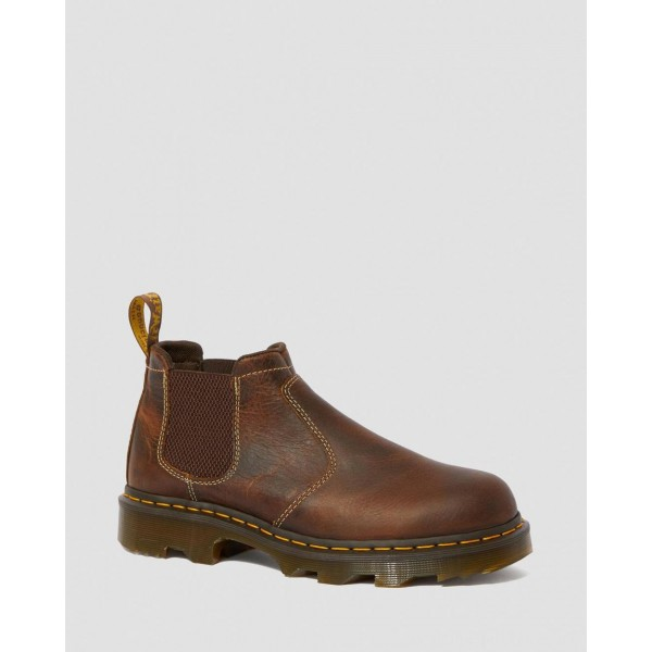 Black Friday Sale Dr. Martens PENLY LIGHTWEIGHT CHELSEA WORK BOOTS - TAN GREENLAND