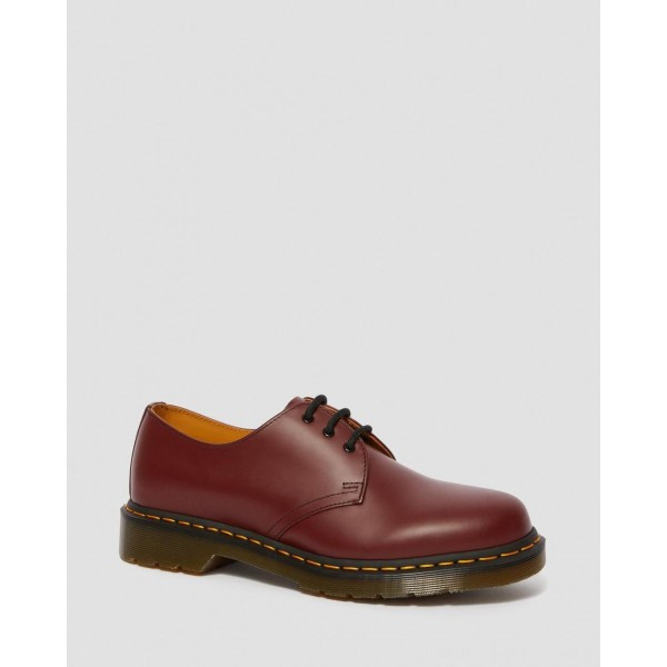 Black Friday Sale Dr. Martens 1461 SMOOTH LEATHER OXFORD SHOES - CHERRY RED SMOOTH