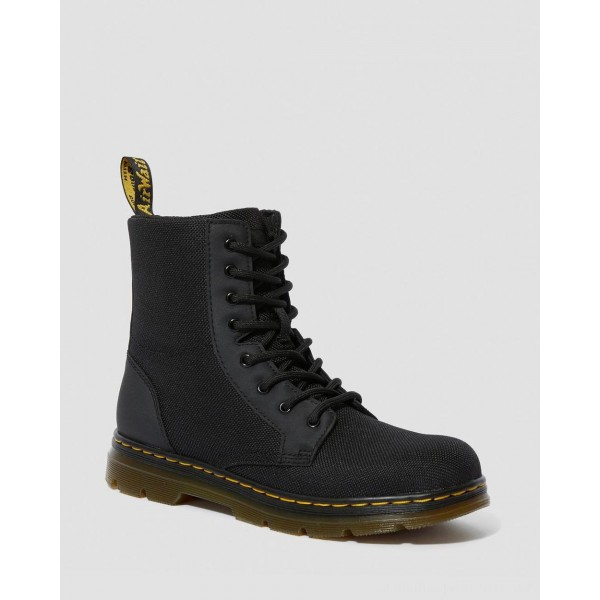 Dr.Martens YOUTH COMBS EXTRA TOUGH POLY CASUAL BOOTS - BLACK EXTRA TOUGH POLY+RUBBERY - Sale