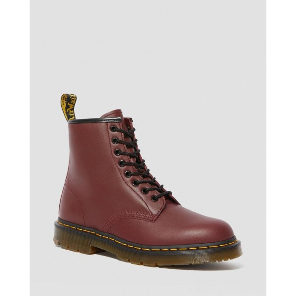 Black Friday Sale Dr. Martens 1460 SLIP RESISTANT LEATHER LACE UP BOOTS - CHERRY RED INDUSTRIAL FULL GRAIN