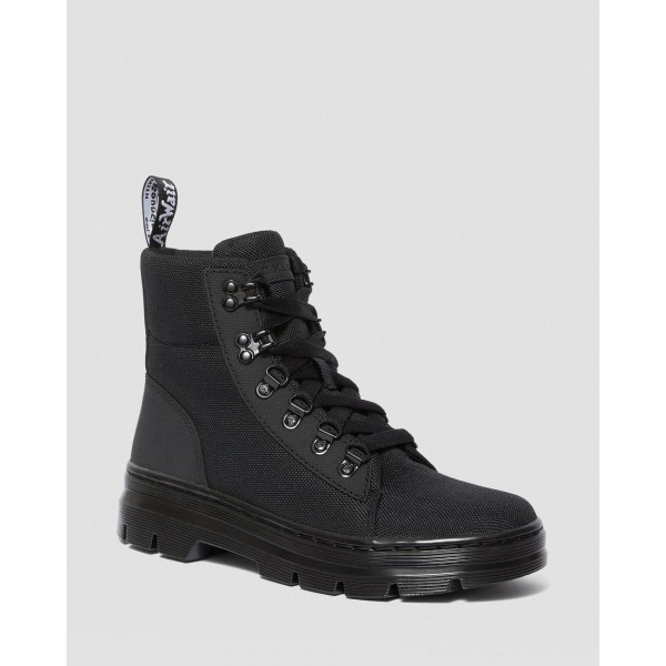 Dr.Martens COMBS WOMEN'S POLY CASUAL BOOTS - BLACK AJAX+EXTRA TOUGH POLY - Sale