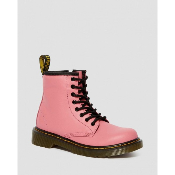 Black Friday Sale Dr. Martens JUNIOR 1460 LEATHER LACE UP BOOTS - ACID PINK ROMARIO