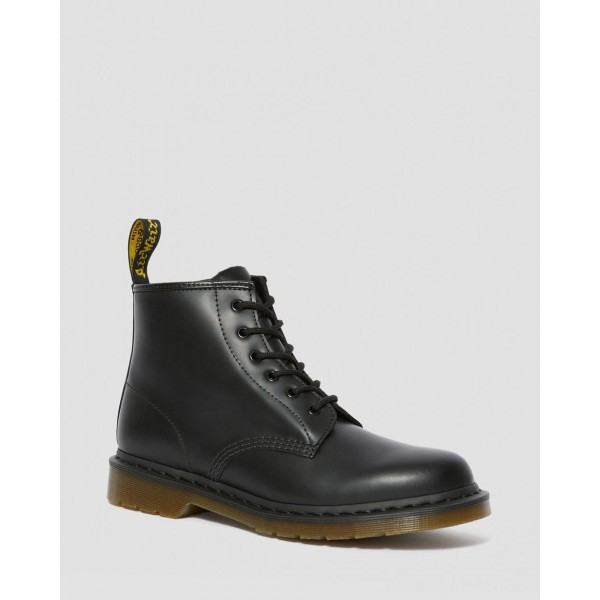 Black Friday Sale Dr. Martens 101 SMOOTH LEATHER ANKLE BOOTS - BLACK SMOOTH