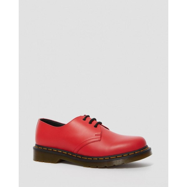 Black Friday Sale Dr. Martens 1461 SMOOTH LEATHER OXFORD SHOES - RED  SMOOTH