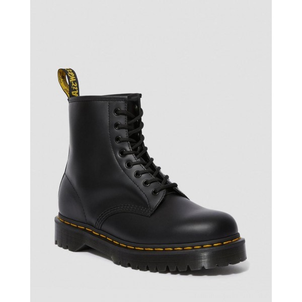 Dr.Martens 1460 BEX SMOOTH LEATHER PLATFORM BOOTS - BLACK SMOOTH - Sale