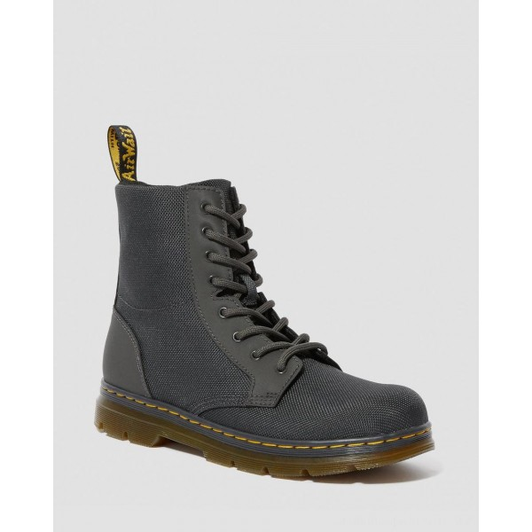 Dr.Martens YOUTH COMBS EXTRA TOUGH POLY CASUAL BOOTS - CHARCOAL EXTRA TOUGH POLY+RUBBERY - Sale
