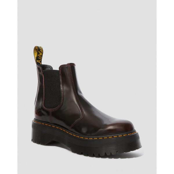 Black Friday Sale Dr. Martens 2976 ARCADIA PLATFORM CHELSEA BOOTS - CHERRY RED ARCADIA