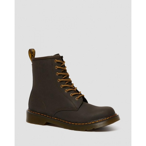 Dr.Martens YOUTH 1460 WILDHORSE LEATHER LACE UP BOOTS - GAUCHO WILDHORSE LAMPER - Sale