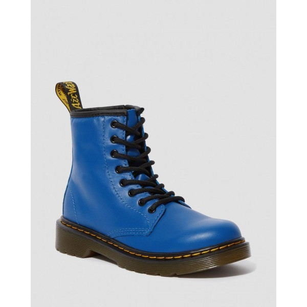 JUNIOR 1460 LEATHER LACE UP BOOTS - BLUE ROMARIO