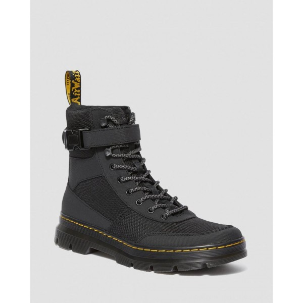 Black Friday Sale Dr. Martens COMBS TECH EXTRA TOUGH POLY CASUAL BOOTS - BLACK EXTRA TOUGH POLY+AJAX