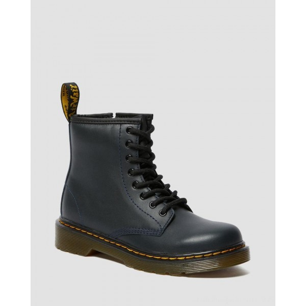 Dr.Martens JUNIOR 1460 LEATHER LACE UP BOOTS - NAVY ROMARIO - Sale