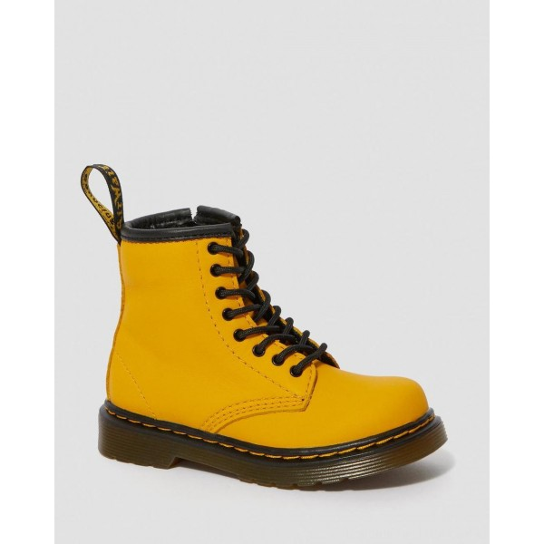 Dr.Martens TODDLER 1460 LEATHER LACE UP BOOTS - YELLOW ROMARIO - Sale