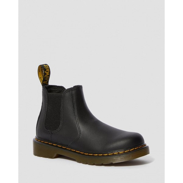Dr.Martens JUNIOR 2976 SOFTY T LEATHER CHELSEA BOOTS - BLACK SOFTY T - Sale