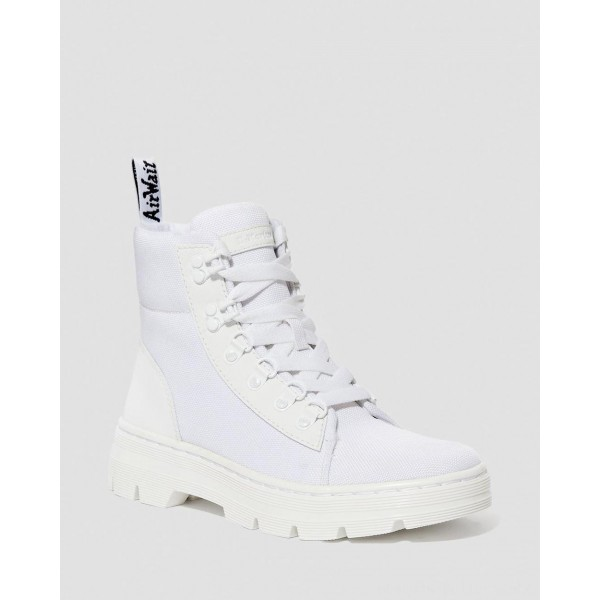Dr.Martens COMBS WOMEN'S POLY CASUAL BOOTS - WHITE AJAX+EXTRA TOUGH POLY - Sale