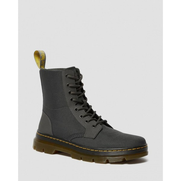 Dr.Martens COMBS POLY CASUAL BOOTS - CHARCOAL EXTRA TOUGH POLY+RUBBERY - Sale