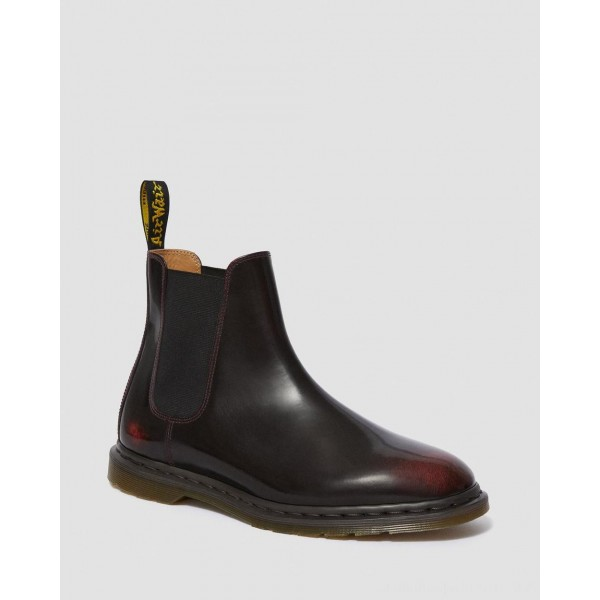 Black Friday Sale Dr. Martens GRAEME II ARCADIA CHELSEA BOOTS - CHERRY RED ARCADIA