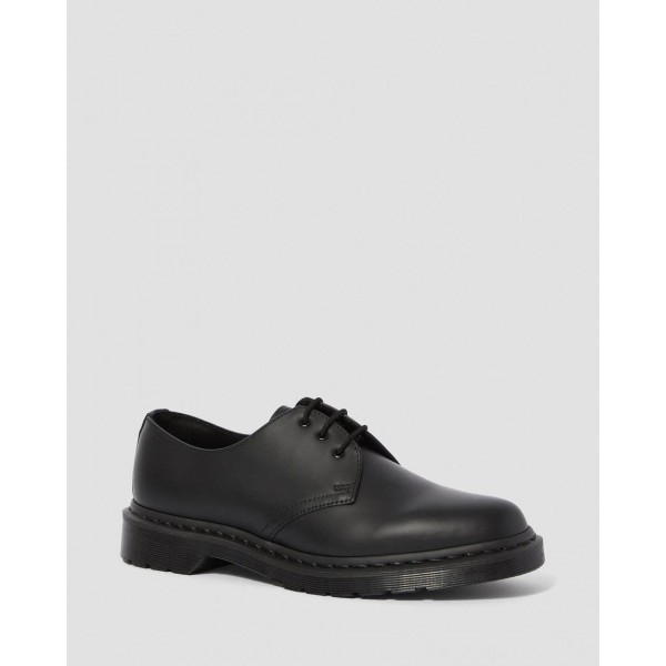 Dr.Martens 1461 MONO SMOOTH LEATHER OXFORD SHOES - BLACK SMOOTH - Sale