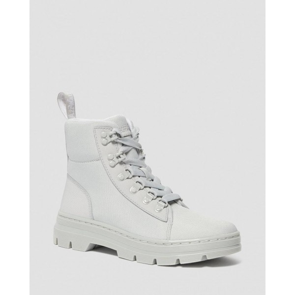 Dr.Martens COMBS WOMEN'S POLY CASUAL BOOTS - LIGHT GREY AJAX+EXTRA TOUGH POLY - Sale