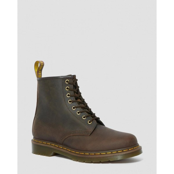 Black Friday Sale Dr. Martens 1460 CRAZY HORSE LEATHER LACE UP BOOTS - GAUCHO CRAZY HORSE