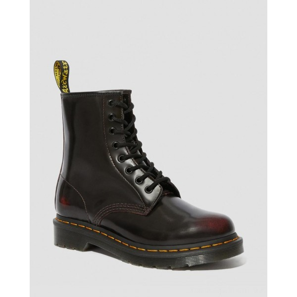 Black Friday Sale Dr. Martens 1460 WOMEN'S ARCADIA LEATHER LACE UP BOOTS - CHERRY RED ARCADIA